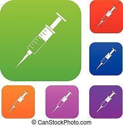 Syringe set color collection