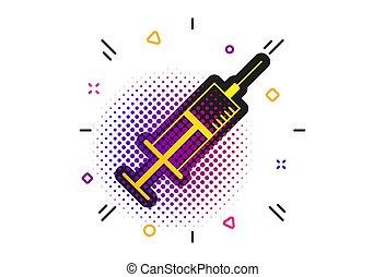 Syringe sign icon. Medicine symbol. Vector