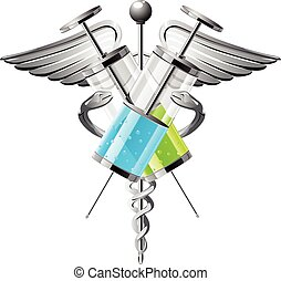 Syringe with medicine vector illustration