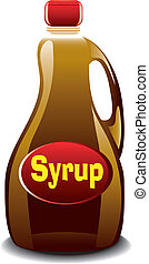 Syrup - Illustration of a bottle of syrup