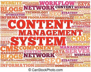 système, contenu, gestion, cms