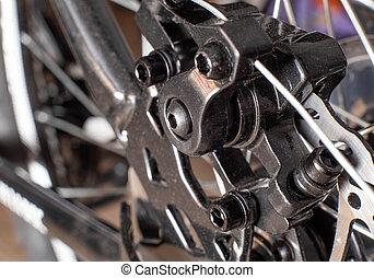 système, frein, métal, disque, macro, fond, calibre, vélo