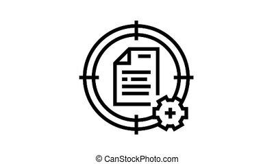 système, icône, animation, cible, ligne, fichier