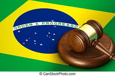 système légal, droit & loi, concept, brésil