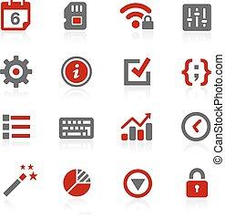 système, paramètres, vecteur, icônes