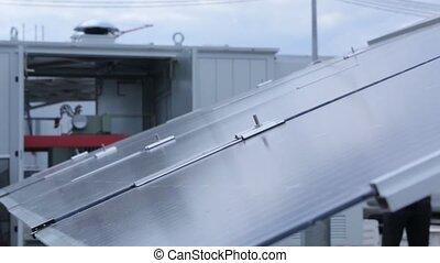 système traquant, panneau solaire