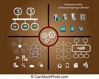 systèmes, infographics, entreprise