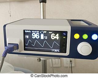 systém, anapnotherapy., monitor, s, zdraví, data, opírat