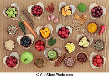 systeem, immuun, verhoging, gezondheid voedsel