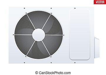system., acondicionador, dividir, aire