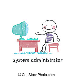 system administrator at work