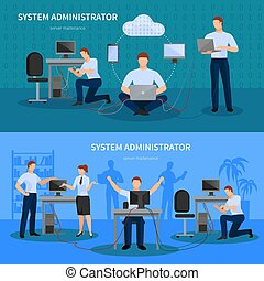 System Administrator Banners Set - System administrator...