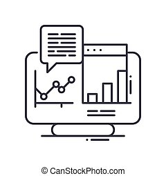 System analysis icon, linear isolated illustration, thin line vector, web design sign, outline concept symbol with editable stroke on white background.