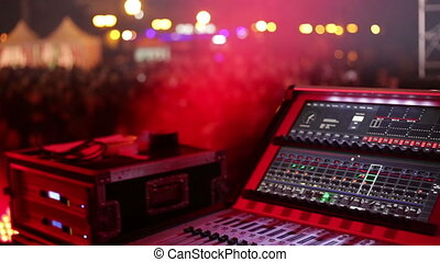 System audio panel at the night disco.