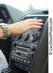 system., automobil, klimatizace, pouití, voják