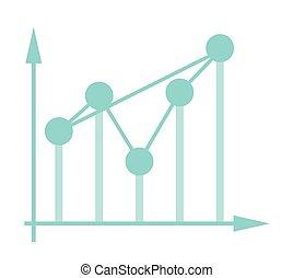system., coordonnée, fluctuer, diagramme, business
