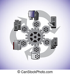 System enterprise architecture - This vector illustrates how...