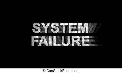 . System Failure Glitch Effect Text Digital TV Distortion 4K...