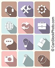 System icons - flat design