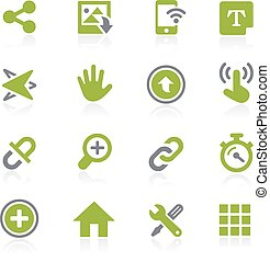 System Icons Interface. Natura - Icons for your web, mobile...
