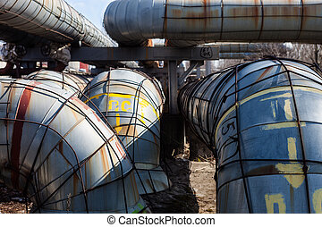 System of heating pipelines