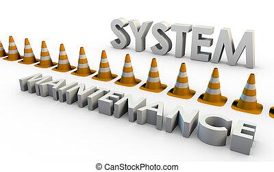 system, opretholdelsen