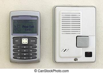 system security, keypad, og, intercom