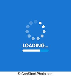 System software update and upgrade concept. Loading process screen. Vector illustration