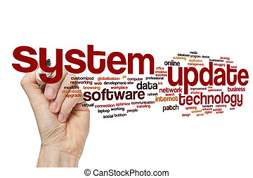 System update word cloud