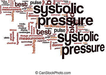 Systolic pressure word cloud concept