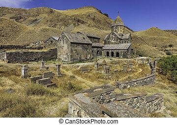syunik, vorotan, grenzstein, kirche, armenien, vorotnavank