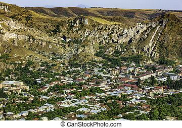 syunik, zangezur, grenzstein, armenien, goris, skyline, berge