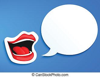száj, beszélő