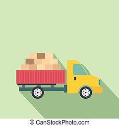 szállítás, autó, rakomány