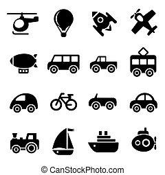 szállítás, ikonok
