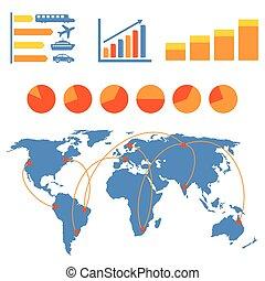 szállítás, infographics