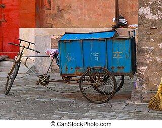 szállít, bicikli