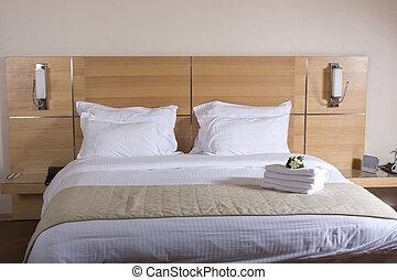 szálloda szoba, ágy