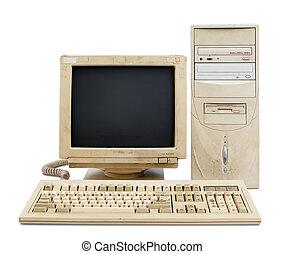 számítógép, állhatatos, öreg
