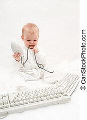 számítógép, csecsemő