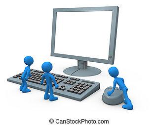 számítógép, feszítőkötelek