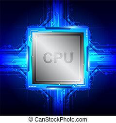 számítógép, processor, technológia