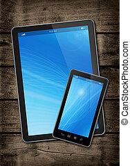 számítógép, smartphone, tabletta, digitális