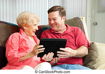 számítógép, tabletta, anya