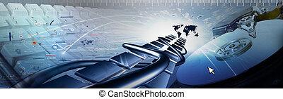 számítógép, transzparens