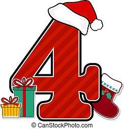 szám 4, karácsony