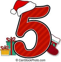 szám, karácsony, 5
