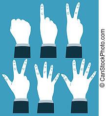 számolás, kéz