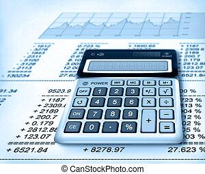 számológép, pénzel