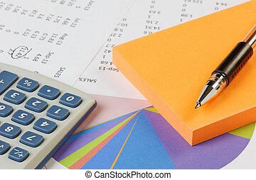 számológép, számvitel, értékesítések, -